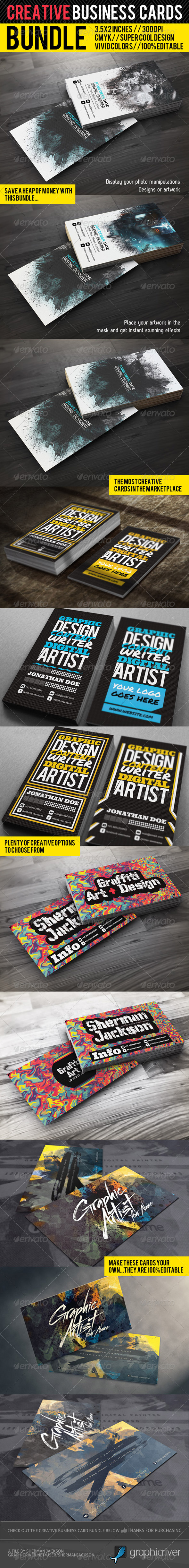 Creative Business Card Premium Bundle - Creative Business Cards