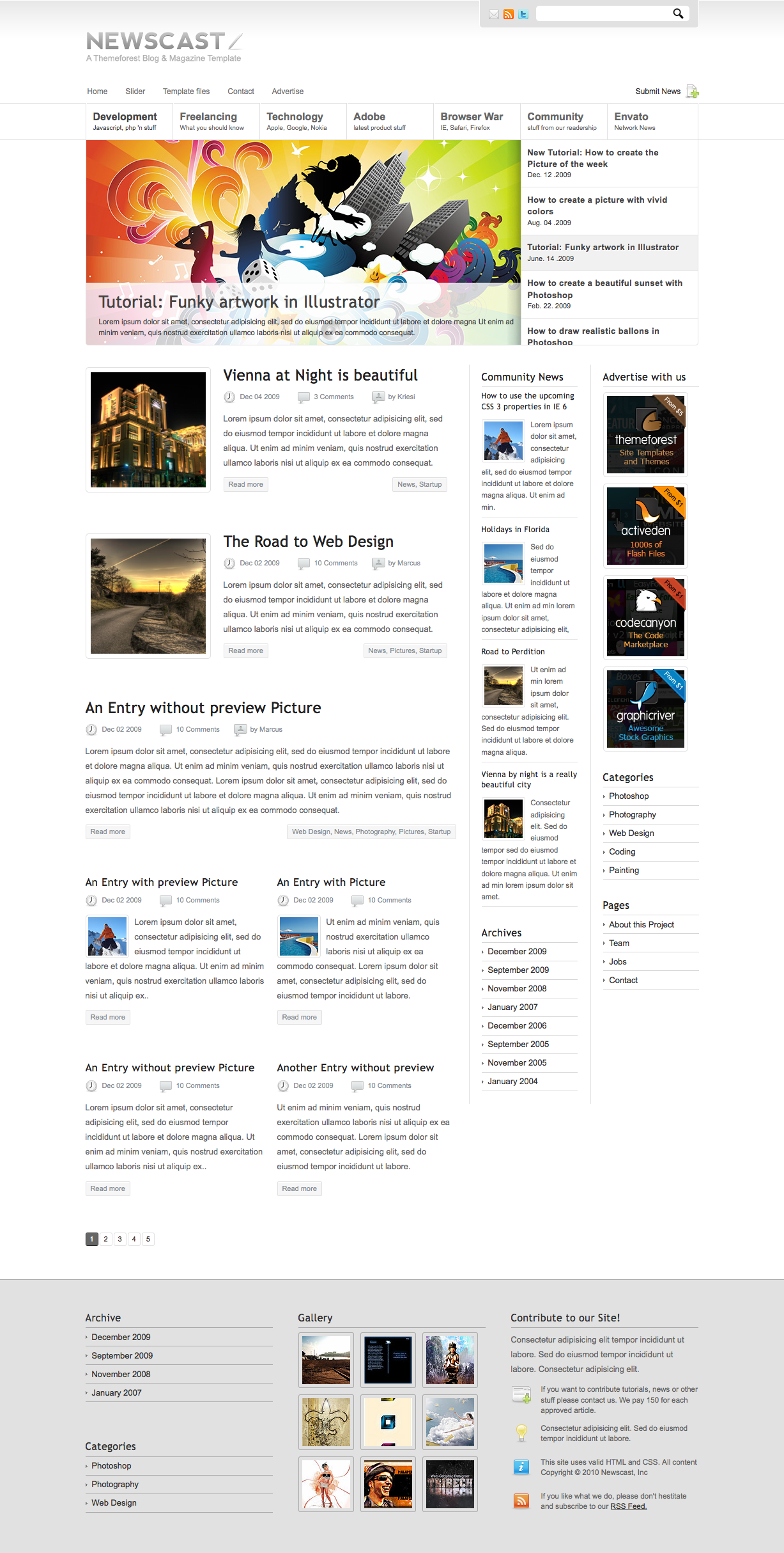 Newscast 4 in 1 - Magazine and Blog Template