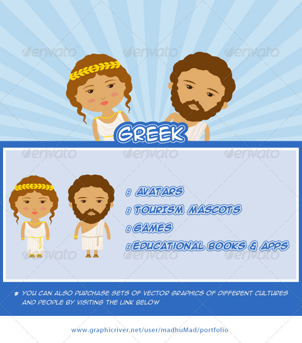 Greek Couple - People Characters