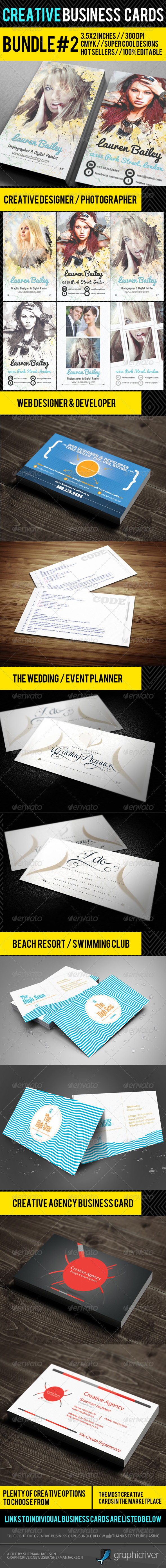 Creative Business Card Premium Bundle #2 - Creative Business Cards