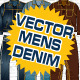 Mens Denim Vector Flats Mock-Ups - Fashion Design - GraphicRiver Item for Sale