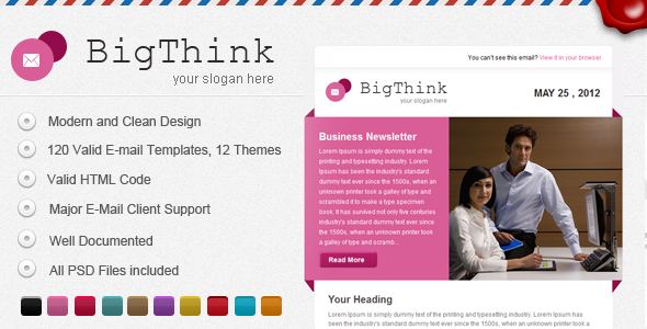 ThemeForest BigThink E-mail Template 2409478