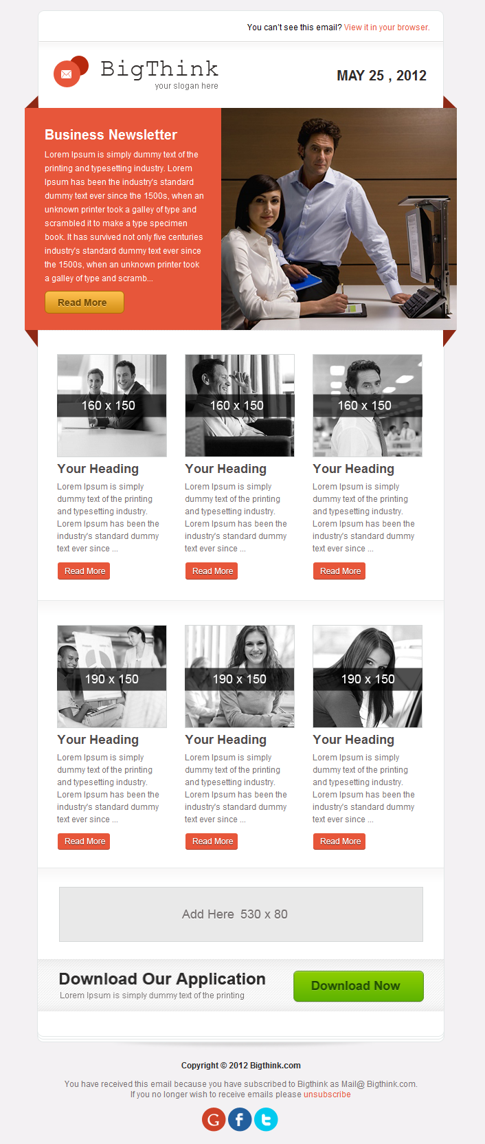 BigThink E-mail Template