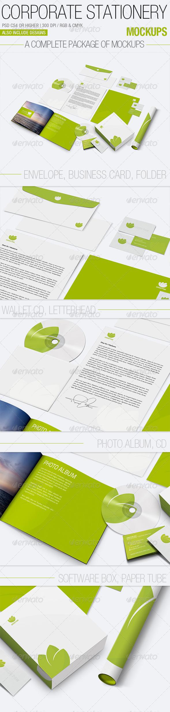 GraphicRiver Corporate Stationery Mockups 2409793