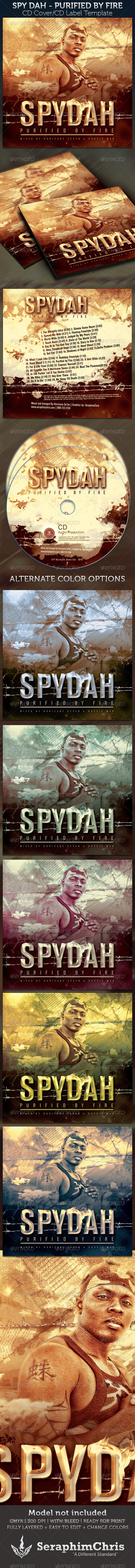 GraphicRiver Spydah Purified by Fire Mixtape CD Cover Template 2409803