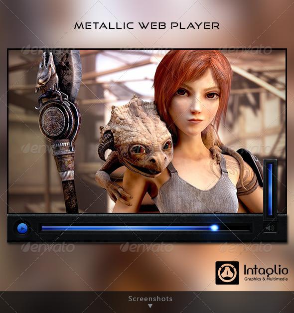 Metallic Web Player - User Interfaces Web Elements