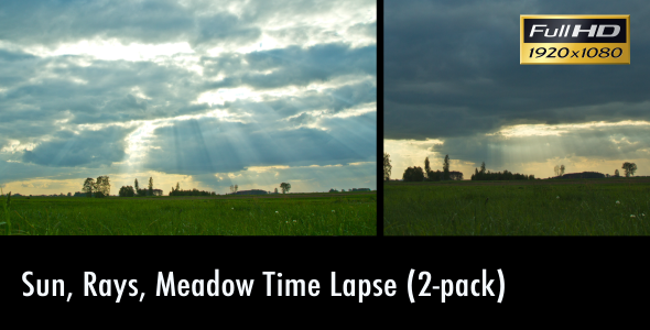 Sun Rays Meadow Time Lapse