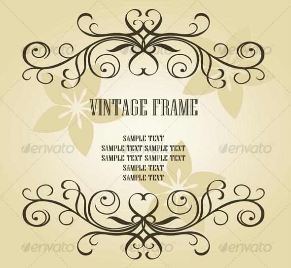 GraphicRiver Vintage frame 88731
