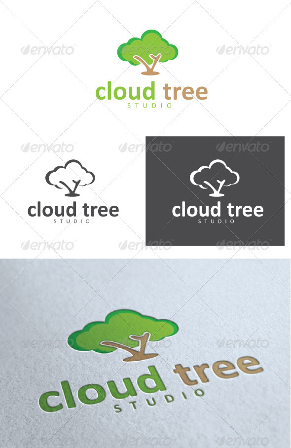 Cloud Tree Studio Logo - Nature Logo Templates