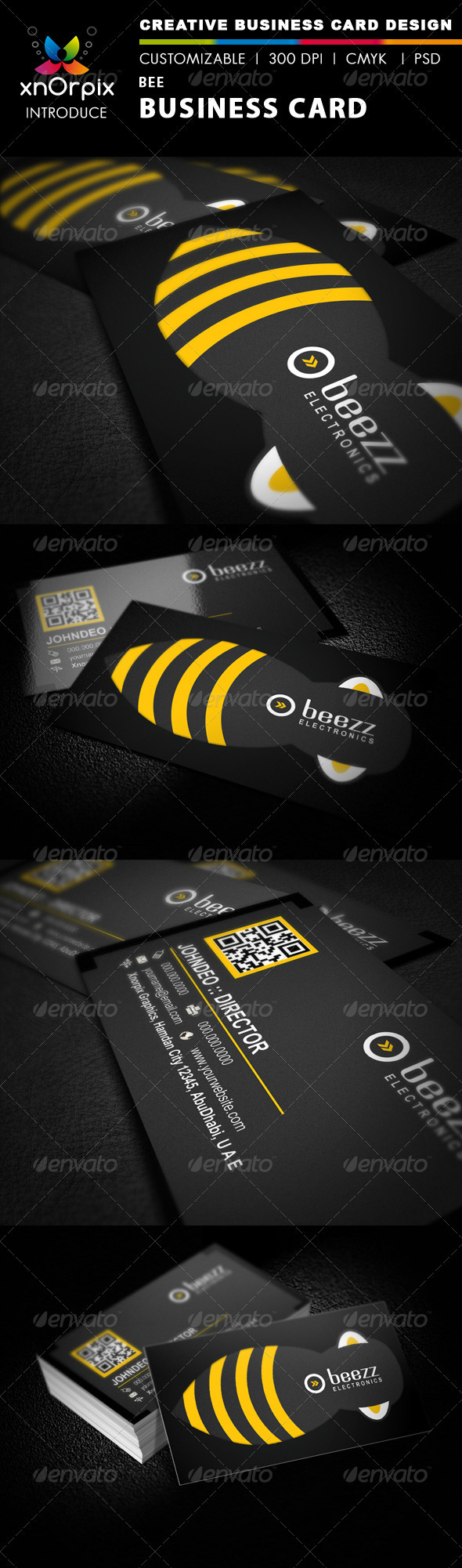 Bee Business card - Corporate Business Cards
