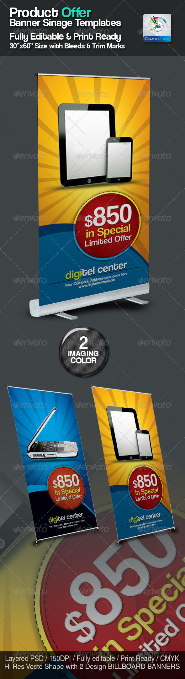 GraphicRiver Product Offer Banner Sinage Templates 2411389