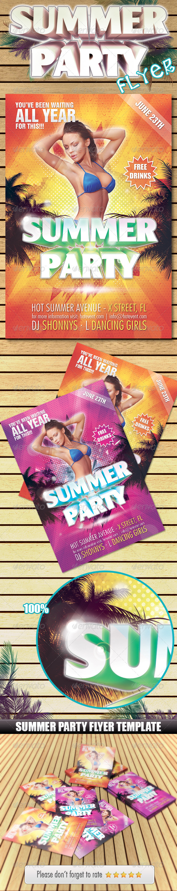 GraphicRiver Summer Party Flyer 2397741
