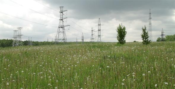 High Voltage Power Pylons
