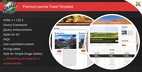 Castor - Premium Travel Joomla Template