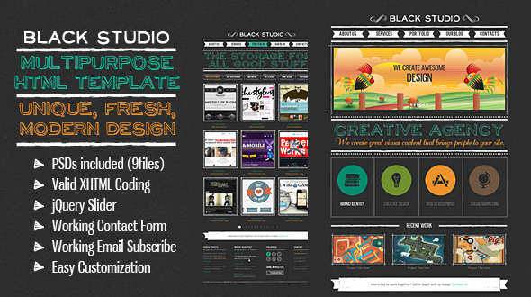 The Multi Purpose Black Studio HTML
