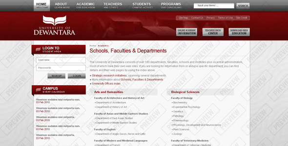 Dewantara University - Business Corporate