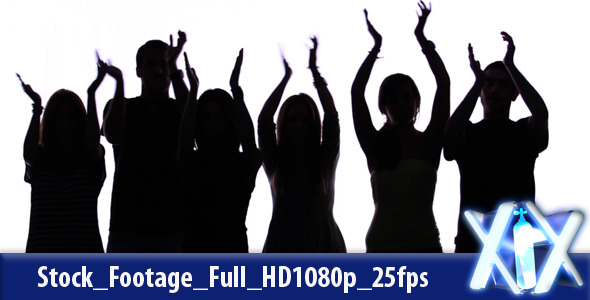 VideoHive Clapping Hands Silhouettes 2412218