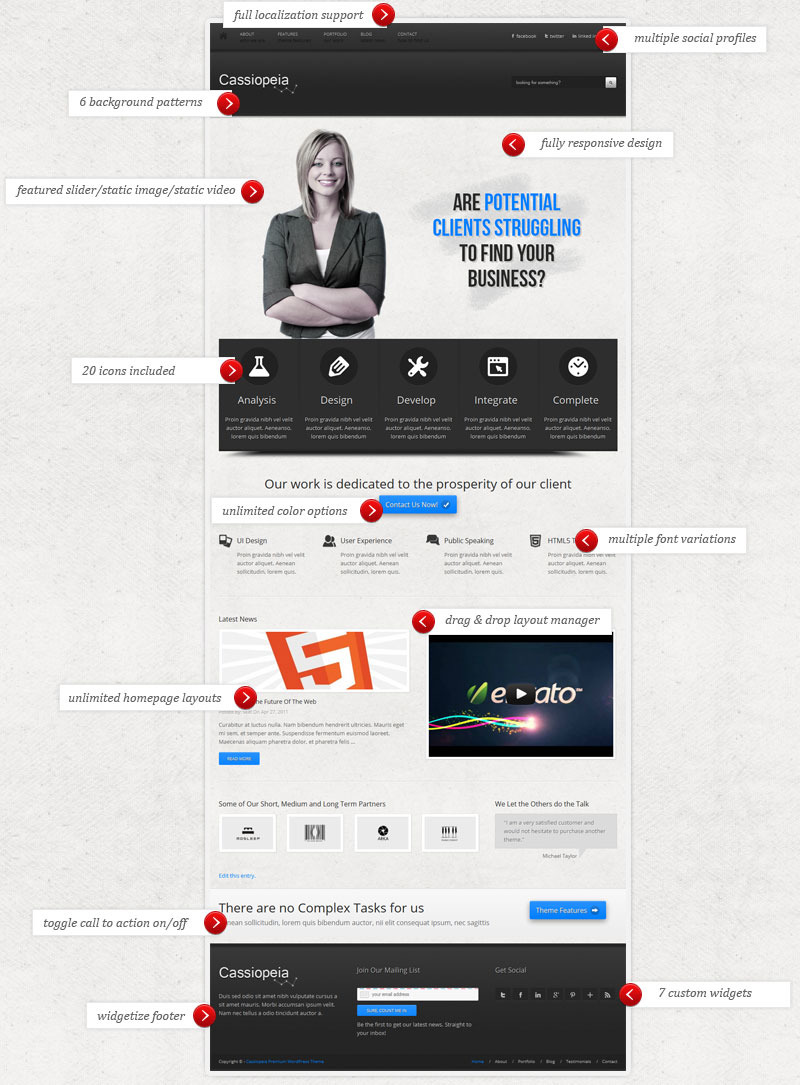Cassiopeia - Responsive WordPress Theme
