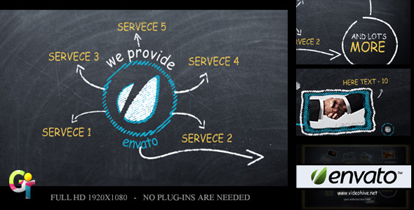 VideoHive Promote your Business on Blackboard 2412544