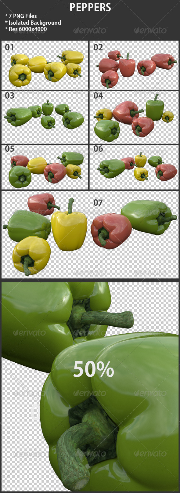 Peppers - 3D Renders Graphics