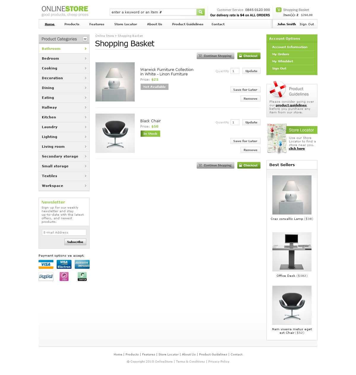 Classic Online Store HTML