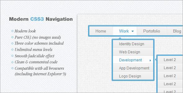 CodeCanyon Modern CSS3 Navigation 2413857