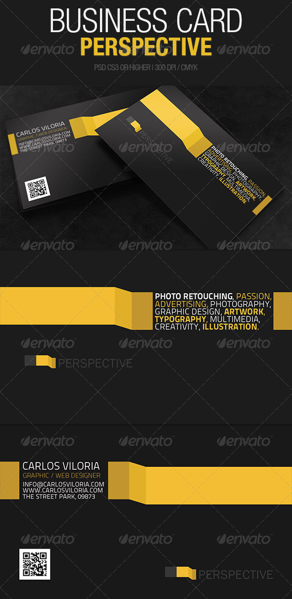 Business Card Perspective - Creative Business Cards