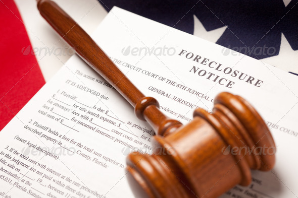 Stock Photo - PhotoDune Gavel American Flag and Foreclosure Notice 271852