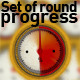 Set Of Round Progress - GraphicRiver Item for Sale