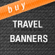 Travel Web Banners/Ads - GraphicRiver Item for Sale