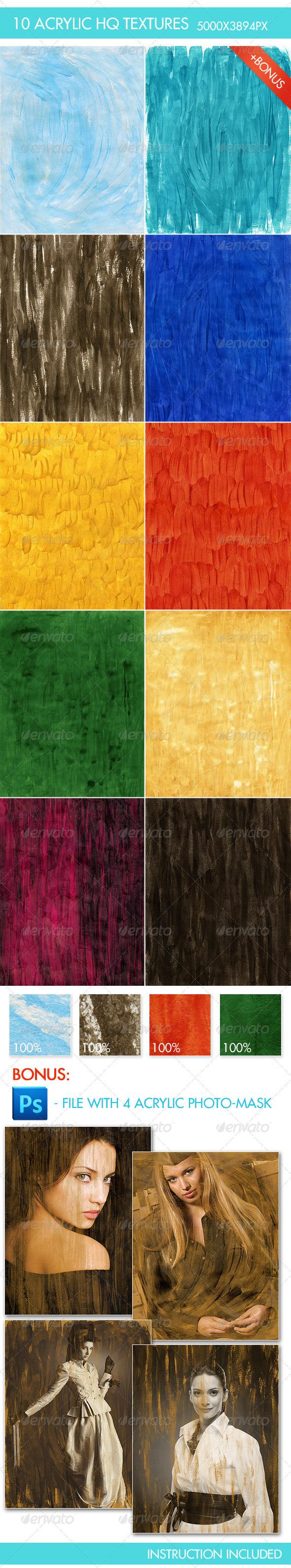10 Acrylic HQ Textures - Art Textures