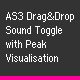 AS3 Sound Toggle with Peak Visual - ActiveDen Item for Sale