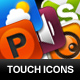Touchscreen application Icons - GraphicRiver Item for Sale