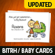 Birth/Baby Announcement Card
