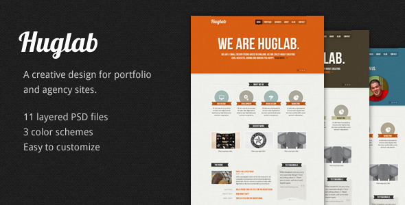 Huglab: Business Portfolio PSD Template  -