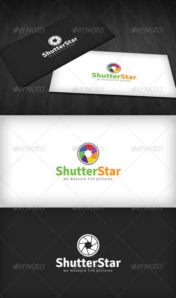 Shutter Star Logo - Objects Logo Templates
