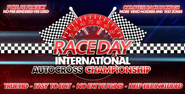 After Effects Project - VideoHive Race Day A Complete Racing Package 241763 ...