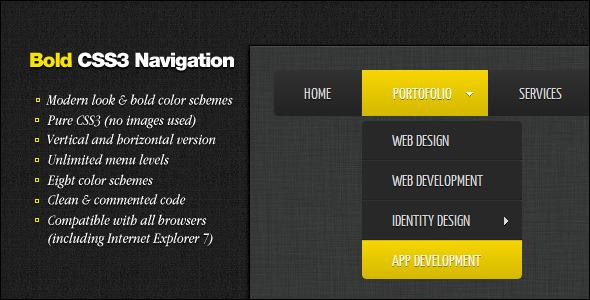 CodeCanyon Bold CSS3 Navigation 2418066