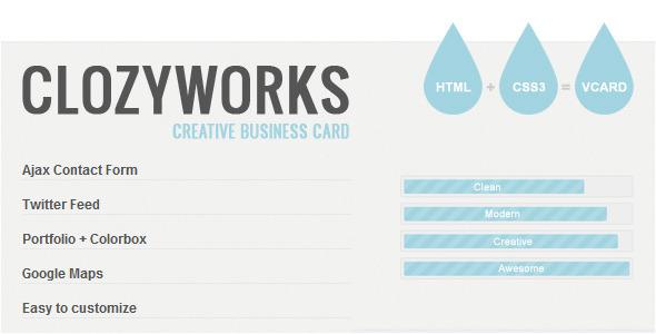 ThemeForest ClozyWorks Creative Business Card 2418167
