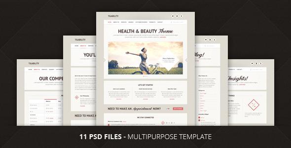 ThemeForest Tilability Health & Beauty PSD Template 2285188
