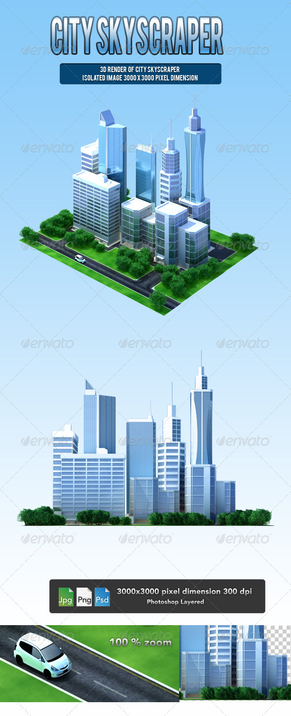 City Skyscraper  - Architecture 3D Renders