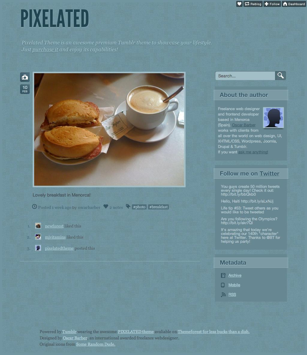 Pixelated theme (tumblr)