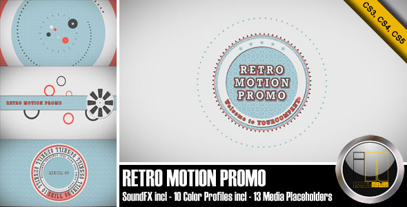 After Effects Project - VideoHive Retro Motion Promo 2418939