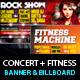 Rock Concert & Fitness Club Billboard+Banner PSD