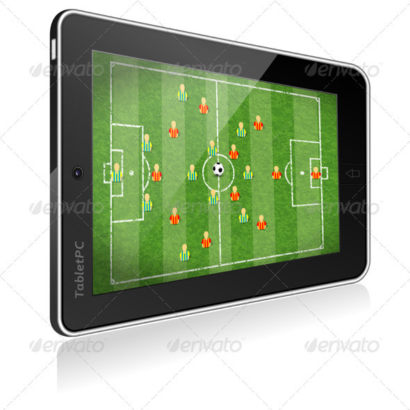 Tablet PC with Football Game - Computers Technology