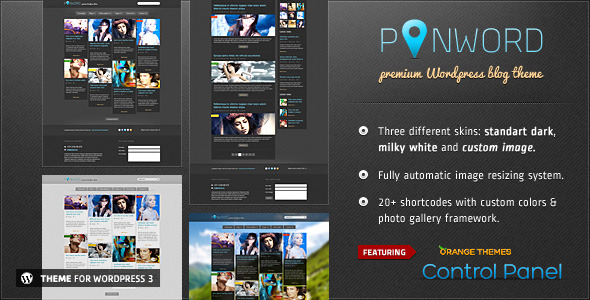 Pinword - Personal and Blog WordPress theme