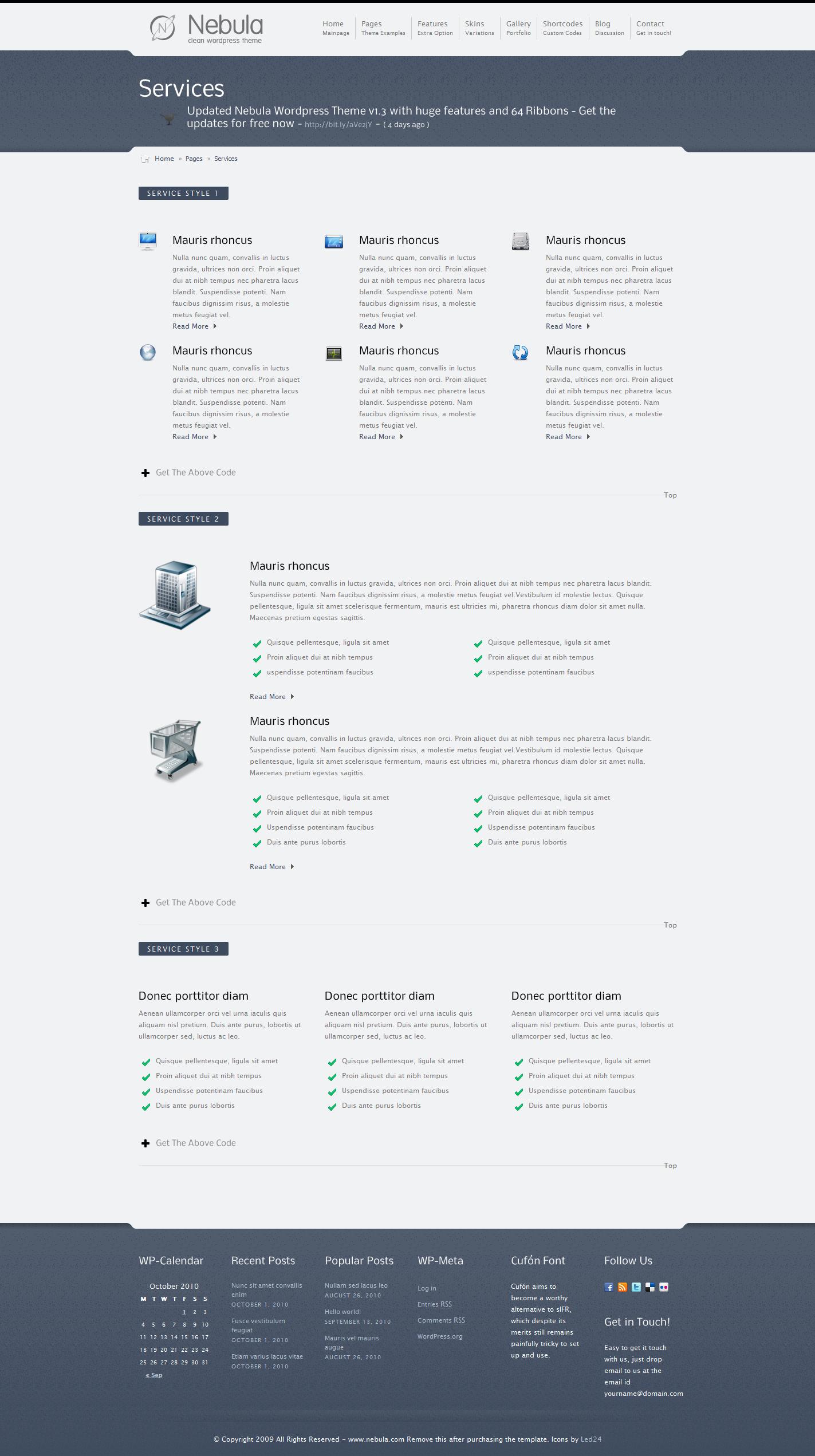 Nebula - Premium Wordpress Theme