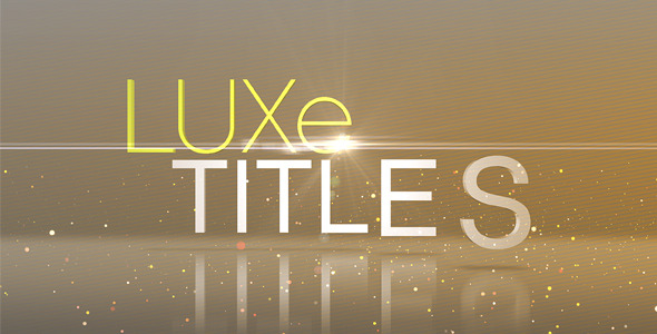 After Effects Project - VideoHive Luxe Titles 272367