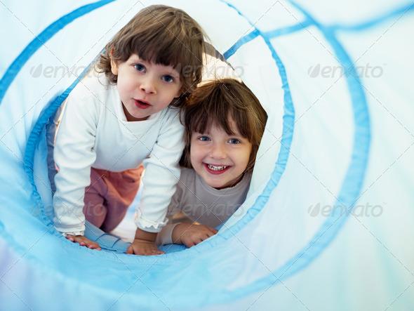 PhotoDune two little girls playing in kindergarten 272416