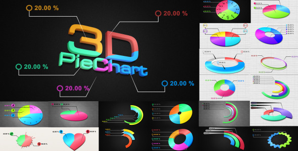 After Effects Project - VideoHive 3D Pie Charts 2421712